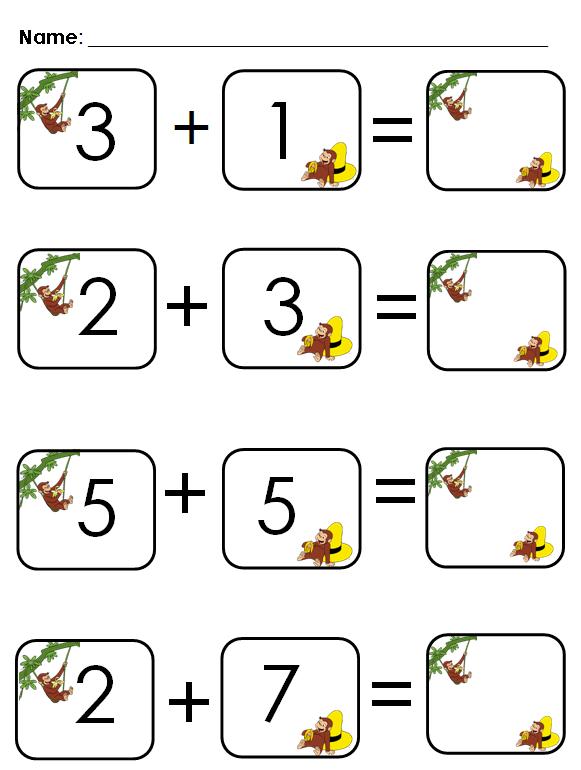 math worksheet : aloha kindergarten! curious ge e addition : Addition Sentence Worksheets