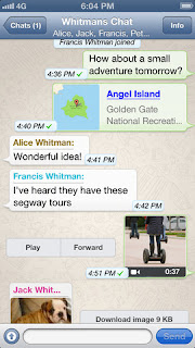 WhatsApp Messenger v2.8.7 for iPhone