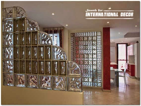 Glass block installation and partition designs in the interior - Glass bricks designs walls ...