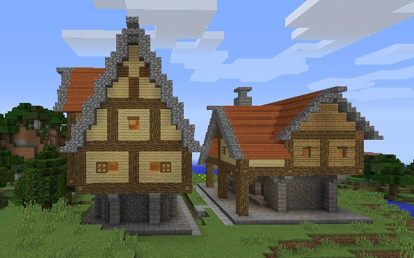 Casas de ladrillo y piedra for Minecraft videos casas