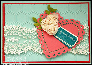 Pretty That's the Ticket Birthday Card  by Stampin' Up! Demonstrator Bekka Prideaux - Check Out Her Blog!
