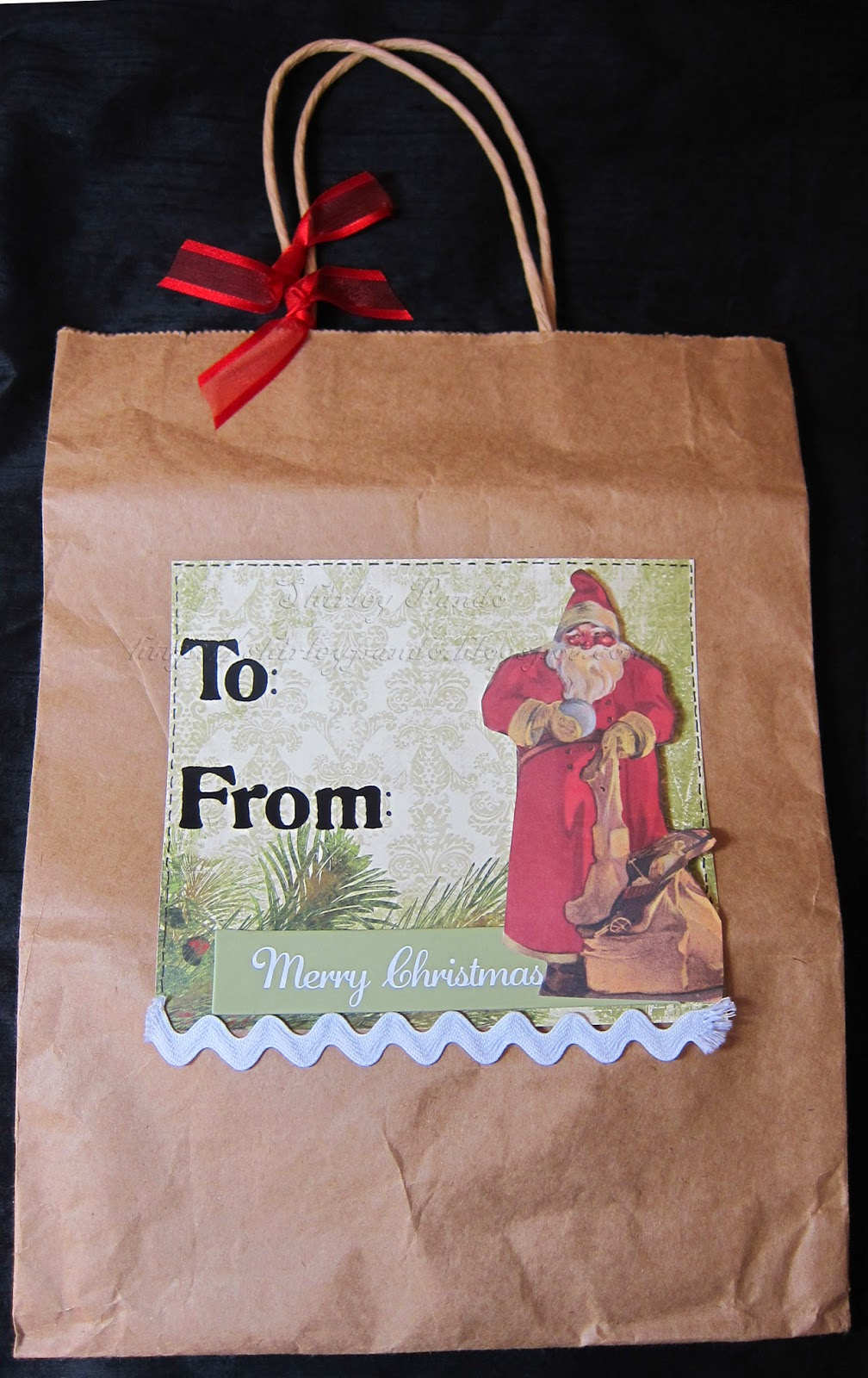 Merry Christmas gift bag