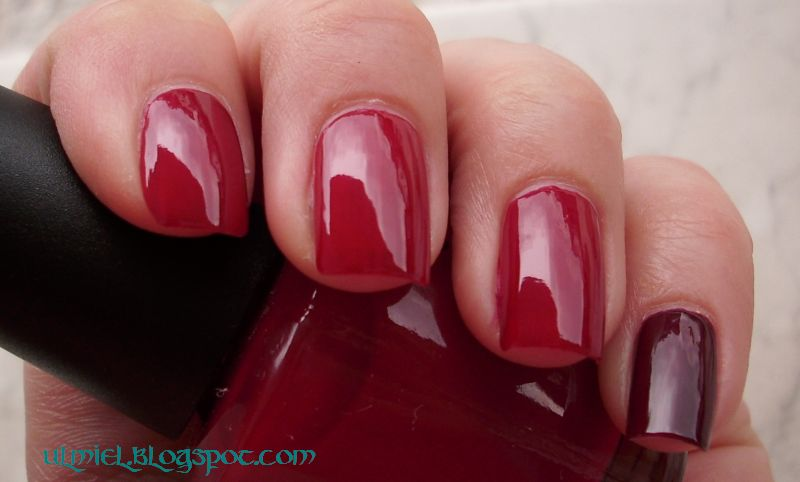 Did someone say nail polish?: Red comparison week - 5th day: blue ...