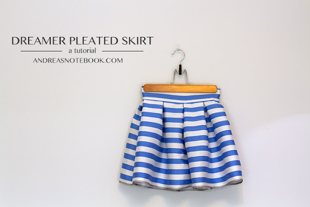 Free sewing tutorial for  Pleat Skirt