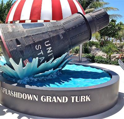 Replica of Mercury Capsule Splashdown at Grand Turk