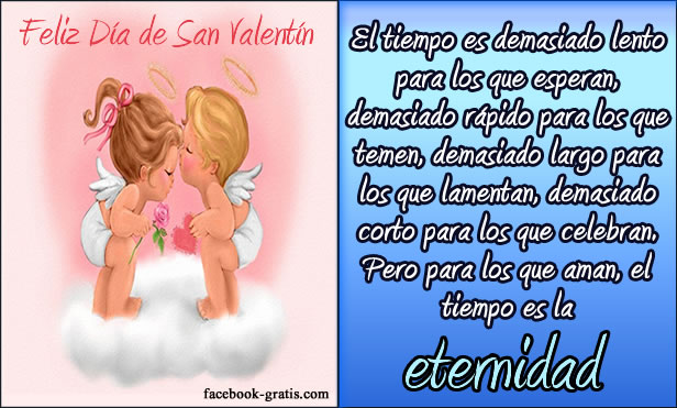 Imagen con mensaje Día de San Valentín