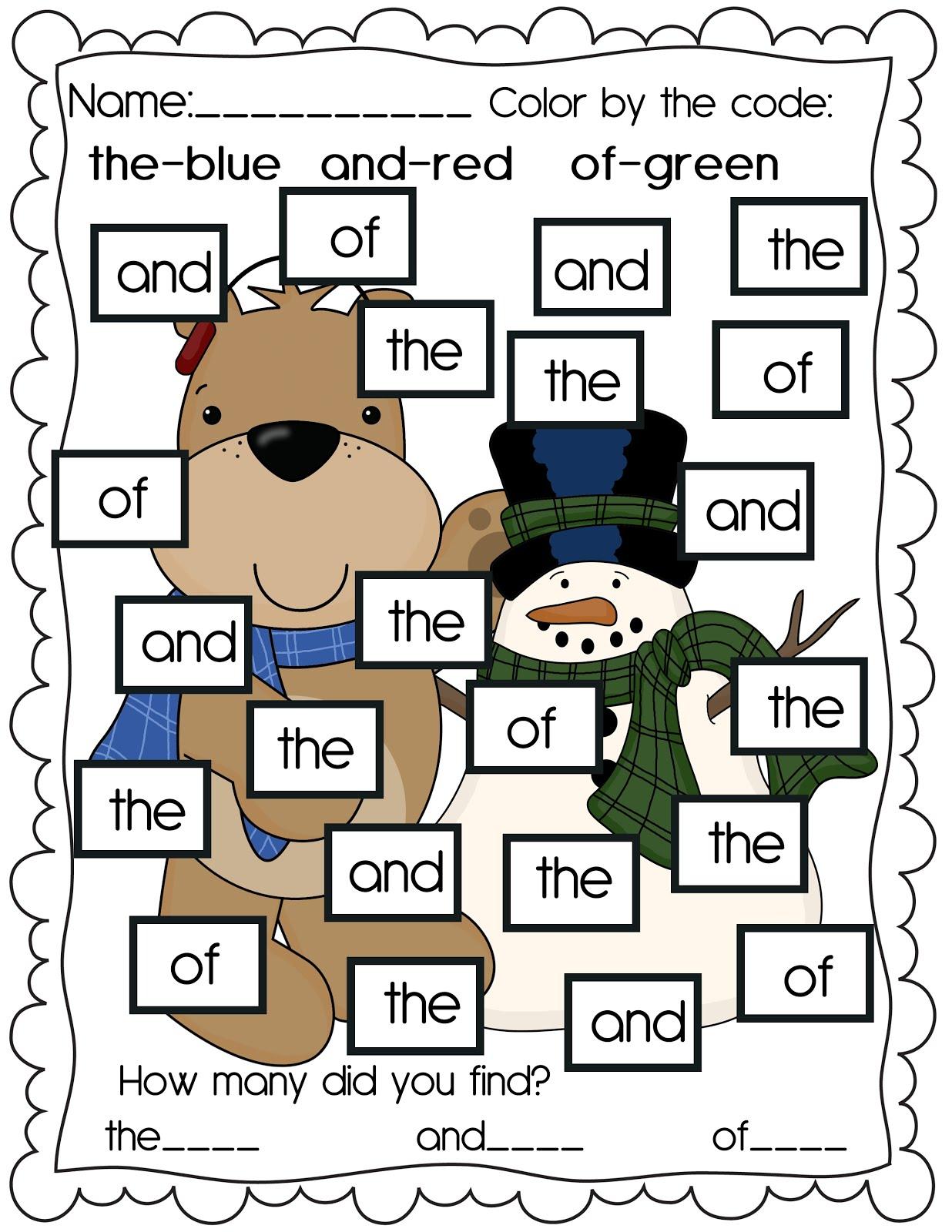 The Crazy Pre K Classroom Winter Worksheet Freebie