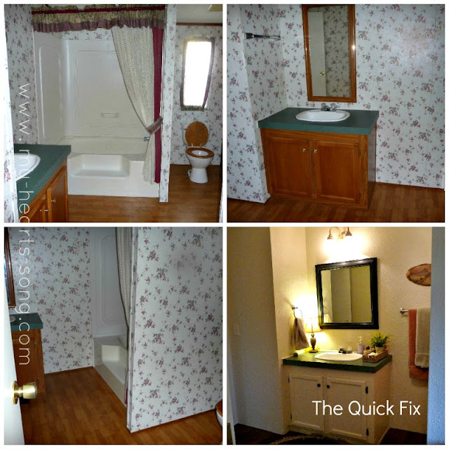 My heart 39 s song guest bathroom with a french country twist for Home bathroom remodel