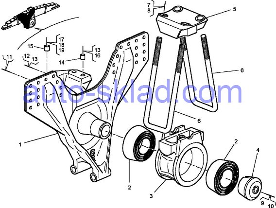 стремянки, ремонт балансира Renault Kerax DXI11