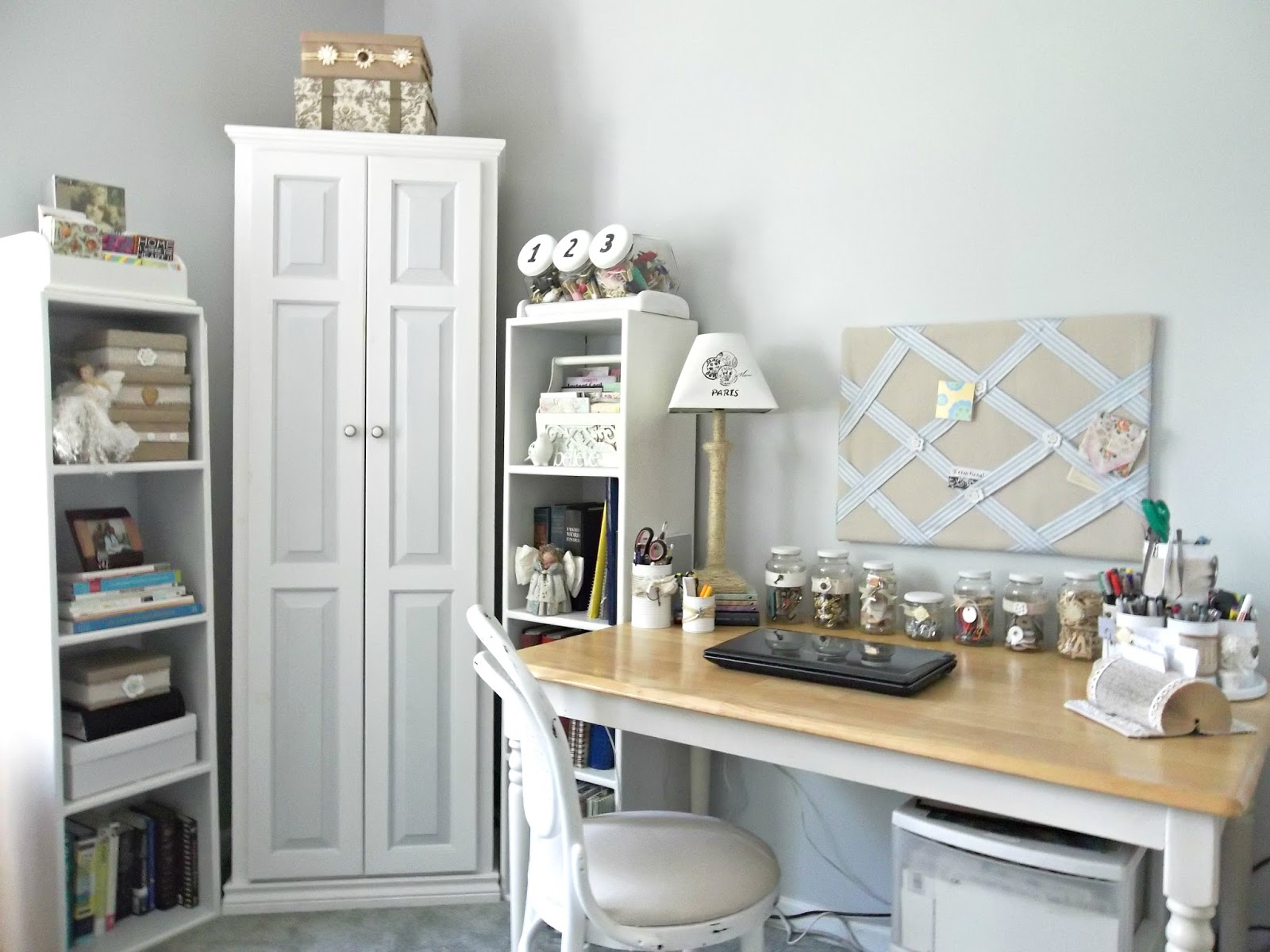 Craft rooms on a budget - Organizing Your Craft Room With Recycled Thrifted Or Multipurpose Items On A Budget