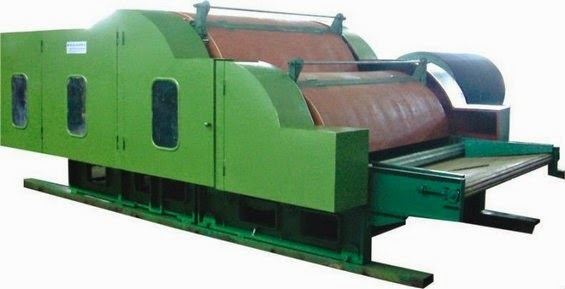 Double cylinder carding machine