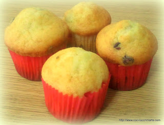 Bizcochitos o magdalenas para cup cakes