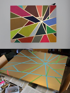 Tape Painting by Maria Teorien