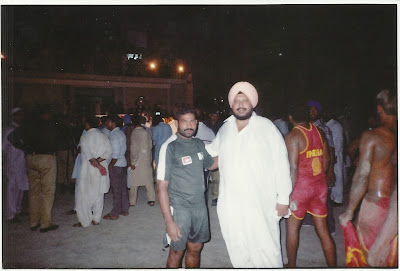 Ch. Muhammad Mansha Gujjar with Indian Sardar