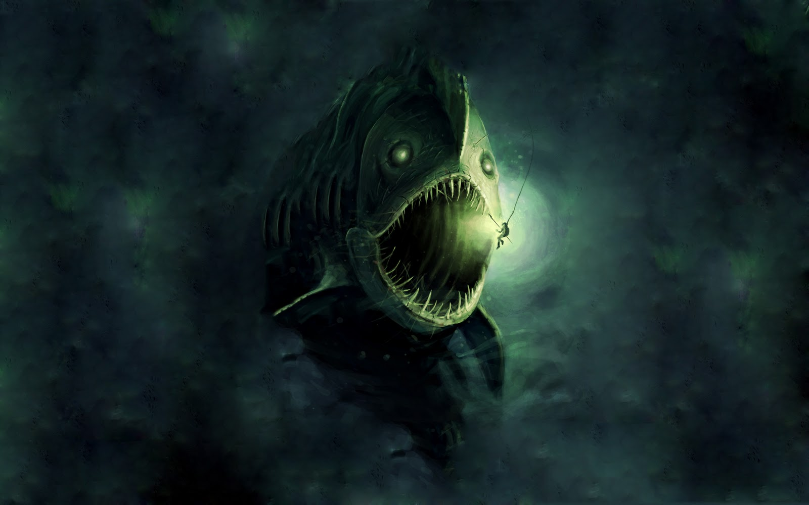 Scary UnderwaterGiant Sea Monster Wallpaper