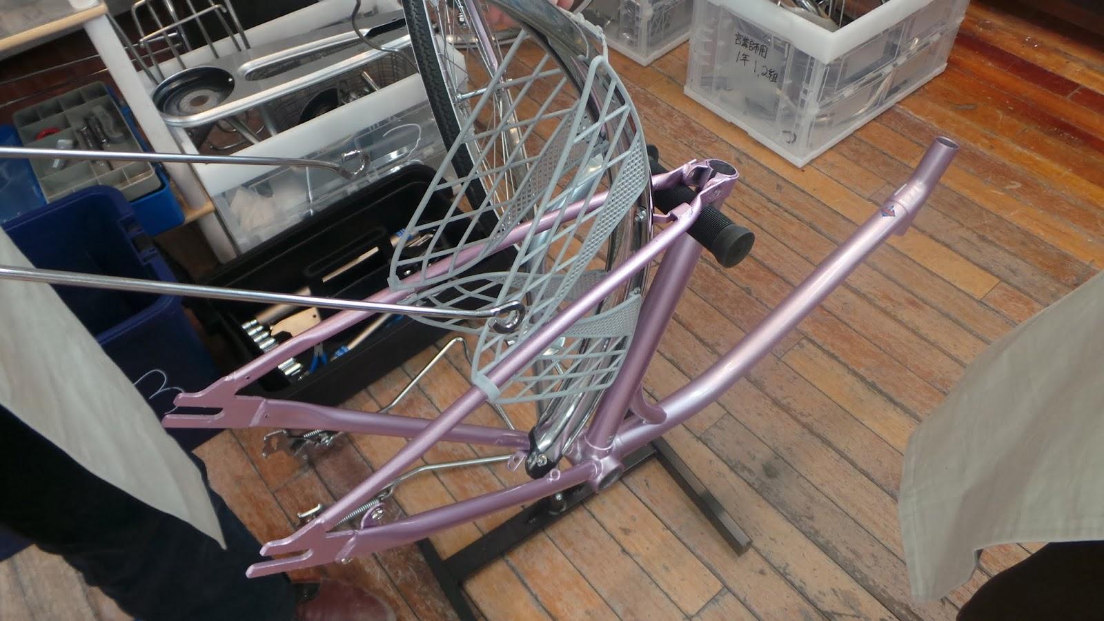 自転車の 自転車 前輪 外す ママチャリ : ... 組付け | leibunの自転車学校日記