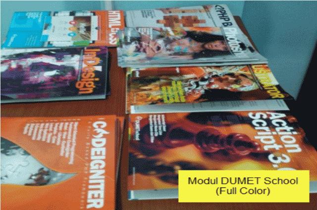 Modul Pada Tempat Kursus Website, SEO, Desain Grafis Favorit 2015 di Jakarta DUMET School
