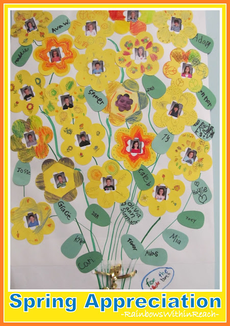 photo of: Spring Appreciation Bulletin Board Bouquet (from Bulletin Board RoundUP by RainbowsWithinReach) 