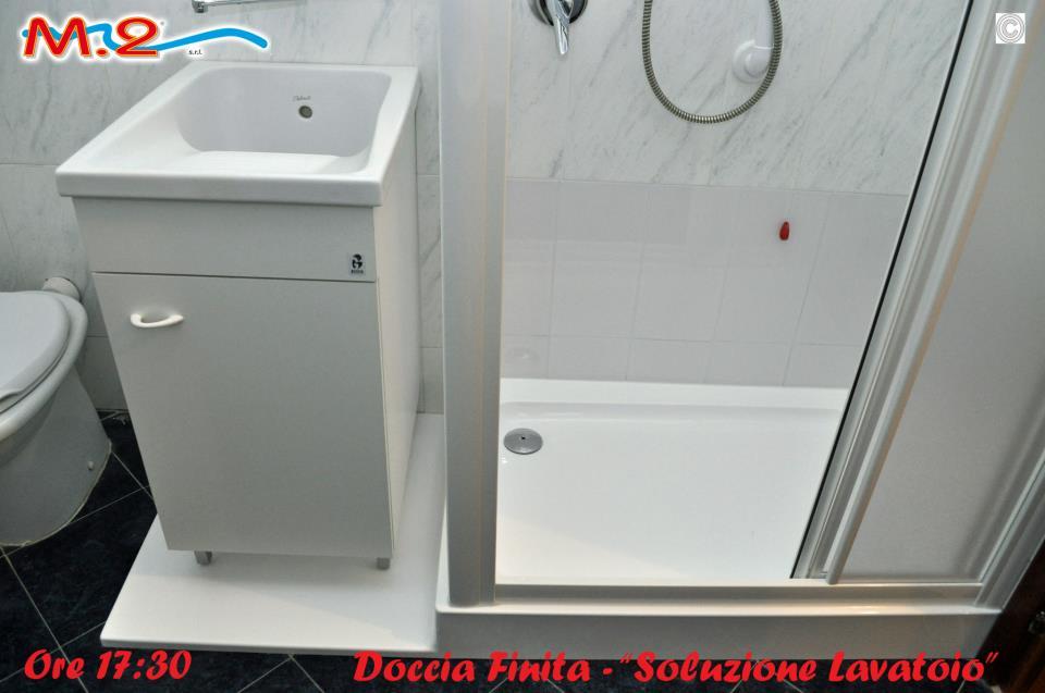 TRASFORMAZIONE VASCA IN DOCCIA - SOLUZIONE CON LAVATOIO A PISA | M ...
