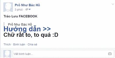 Hướng dẫn cách làm, Thủ thuật viết chữ cực to trên facebook, tạo và cách viết chữ thật tao trên facebook.com - Hưỡng dẫn Làm chữ to theo trào lưu bạn bè facebook.