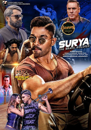 Poster Of Free Download Naa Peru Surya 2018 300MB Full Movie Hindi Dubbed 720P Bluray HD HEVC Small Size Pc Movie Only At vistoriams.com.br