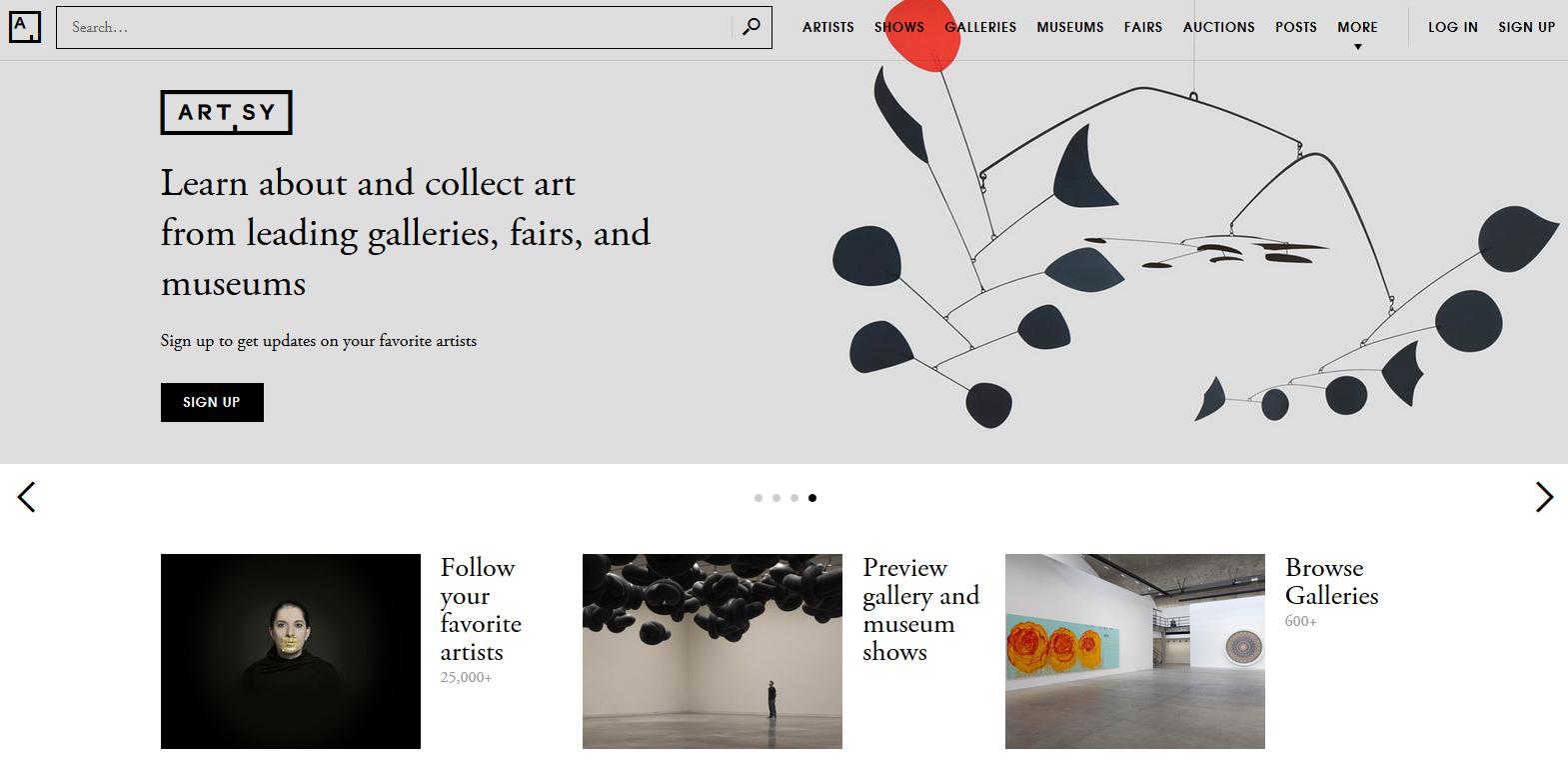 Acheter l'art en ligne