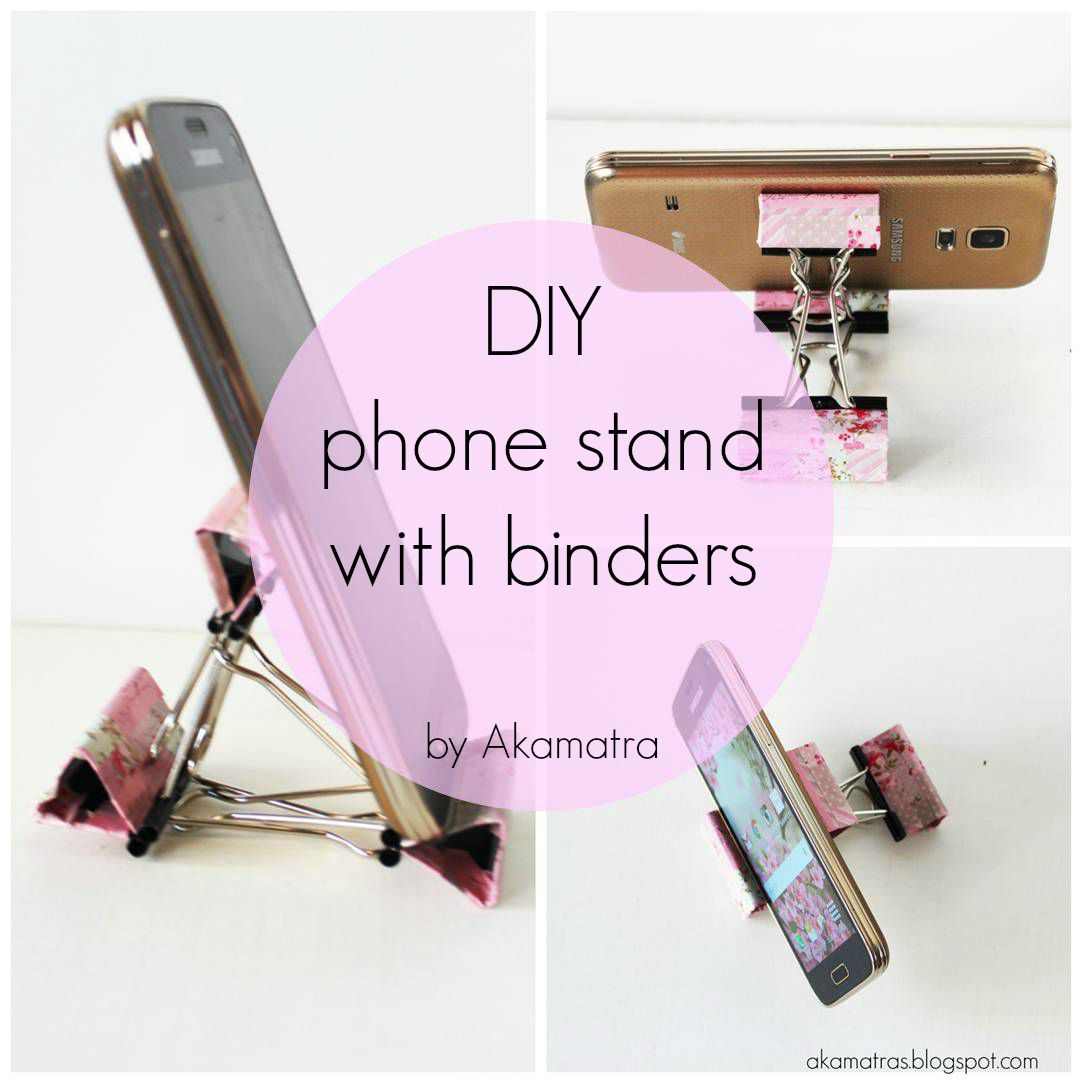 Diy Smart Phone Stand With Binders Full Tutorial Akamatra
