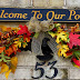 Welcome Autumn - Fall Front Porch and Yard with a Bit of Halloween 2014