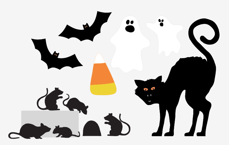 free printable halloween decorations - Halloween Cat Decorations