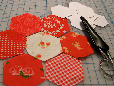 Red and White Hexies