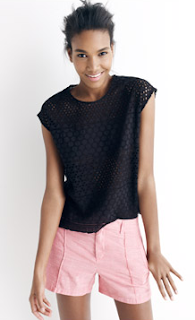 Eyelet Cropped Top