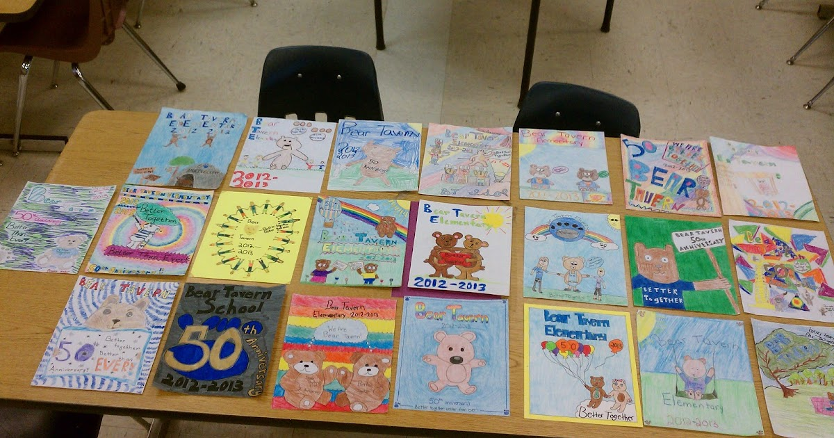 art rocks   5th grade yearbook cover entries
