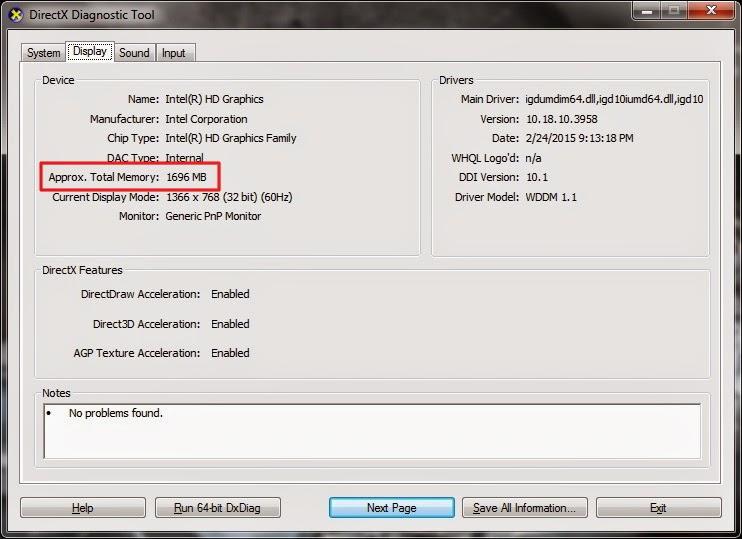 Bagaimana mengetahui kemampuan RAM dan kartu grafis pada Windows