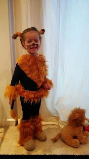 Carnaval disfraz del circo león