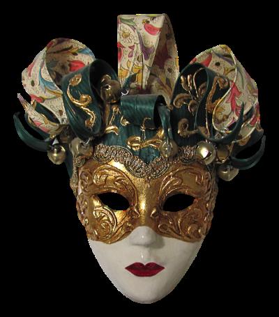 Máscara Carnaval PNG - Arlequim mistério