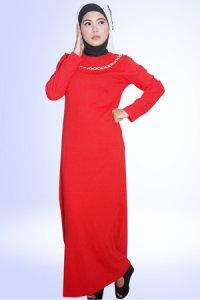 Idmonia Gamis 06 - Merah (Toko Jilbab dan Busana Muslimah Terbaru)