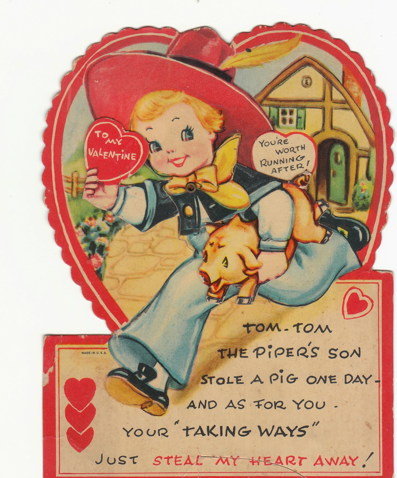 View from the Birdhouse Vintage Valentines A Picture Gallery – Horse Valentines Day Cards