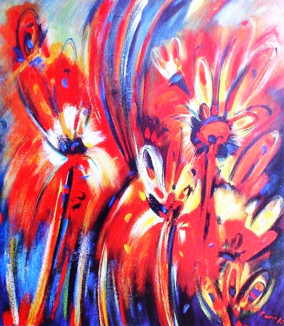 Cuadros modernos pinturas y dibujos flores modernas - Pinturas bodegones modernos ...