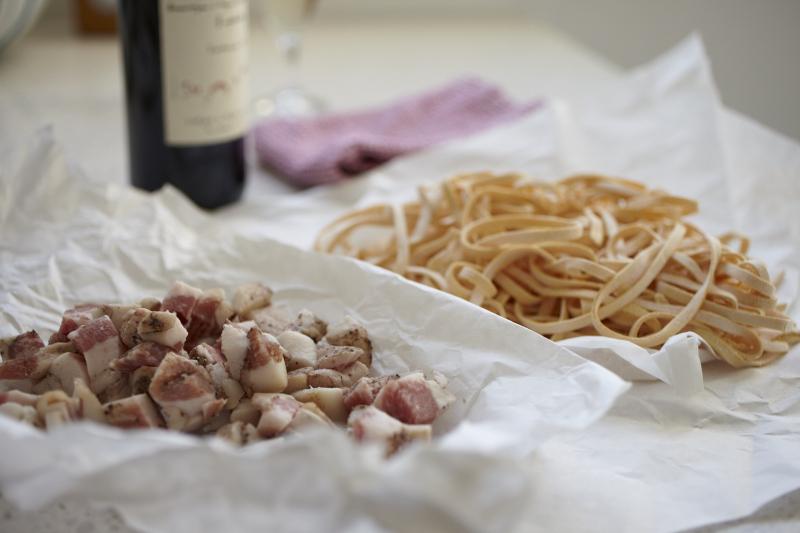 Spaghetti alla carbonara recipe guanciale