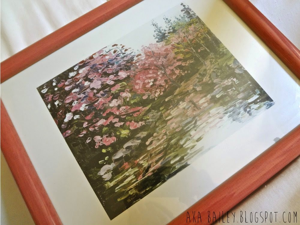 Painting of cherry blossoms from the thrift shop