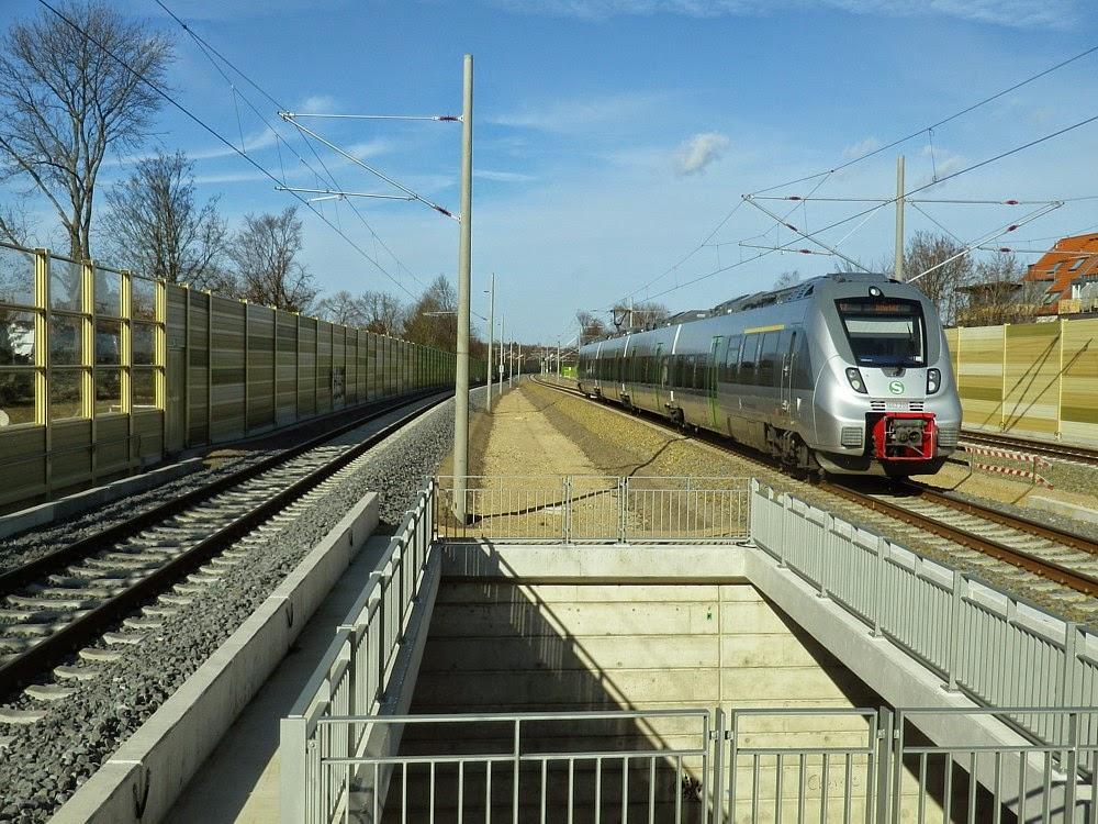 S2 nach Bitterfeld am Bahnhof Markkleeberg