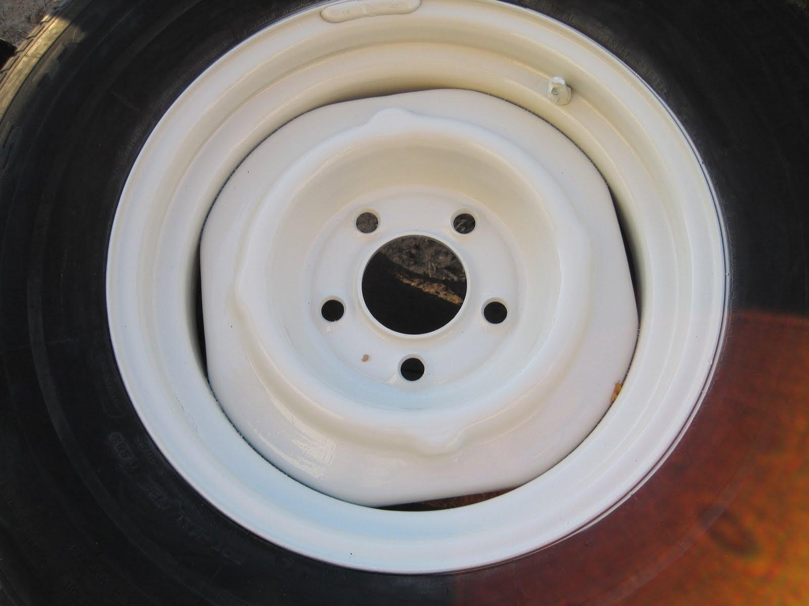Plain Steel Rims Painted White