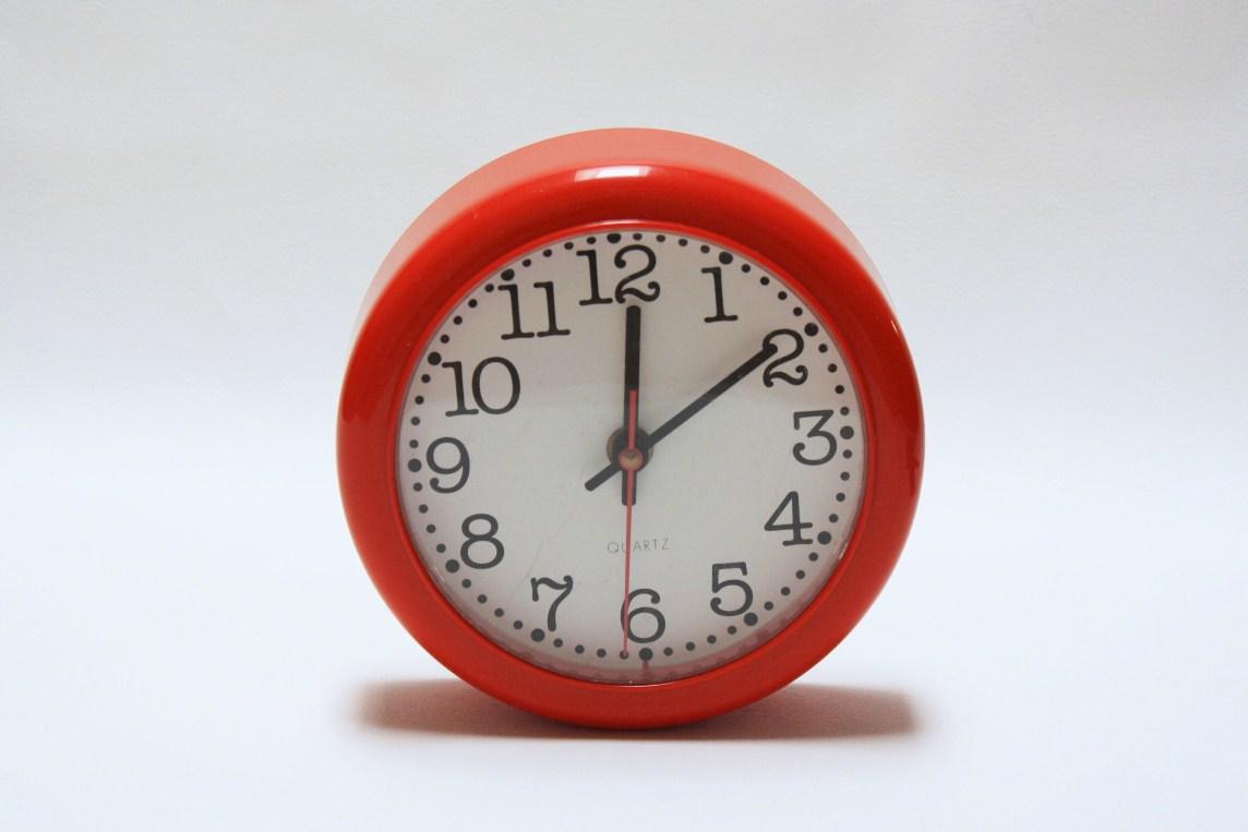 Lulu Yesteryear Redeemed Retro Red Kitchen Clock Sold