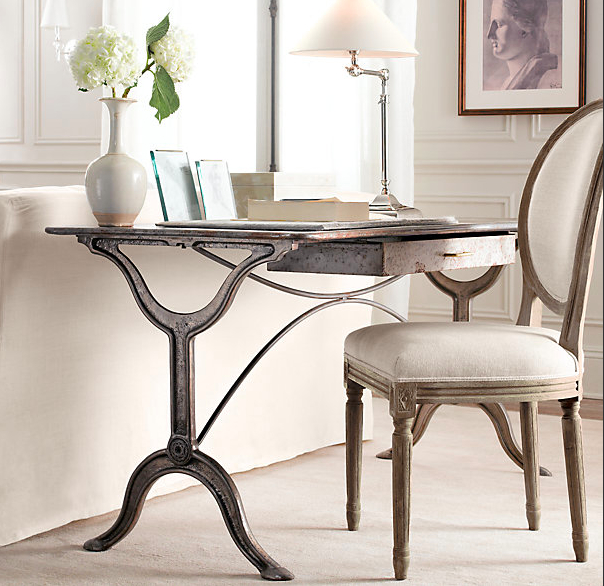 restoration hardwares french partners desk is an absolutely gorgeous reproduction of a french neoclassical desk it comes in two size options that would - Ballard Design Desks