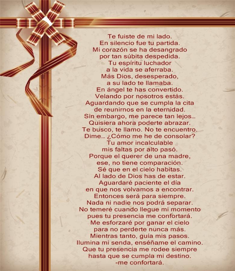 Poemas Para Una Madre Fallecida