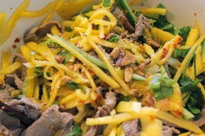 Mixture Salad Green Mango with Beef - Nộm Xoài và Thịt Bò