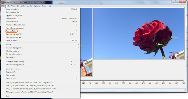 VirtualDub -  corte de video - passo 9 - salvar