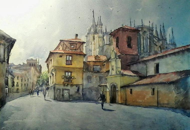 Vista de la catedral. León.