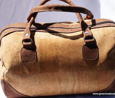 Green Tree Boutiques Lisbon Satchel Cork Handbag made wtih sustainable cork and vegan leather