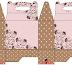 Flores en Marrón y Rosa: Cajas para Lunch, para Imprimir Gratis.